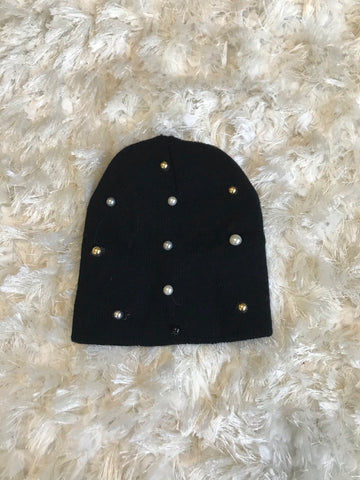 Tali ~ Baby Black Wool Gems Hat
