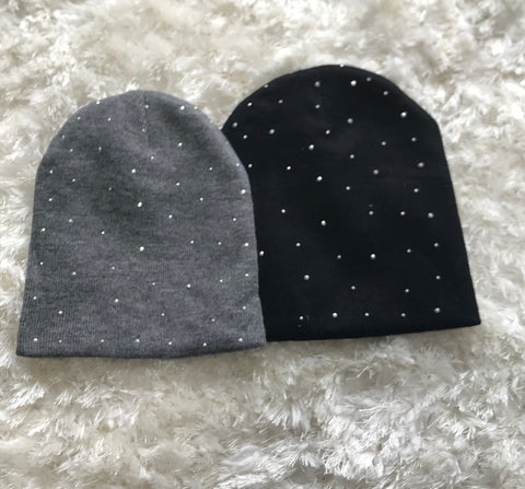 Rhinestone Wool Children's Hat