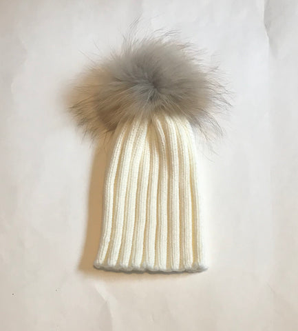 Ivory Wool Ribbed