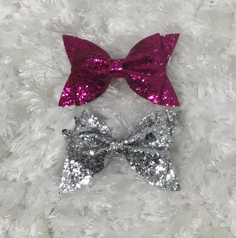 Large Glitter Bow Clip