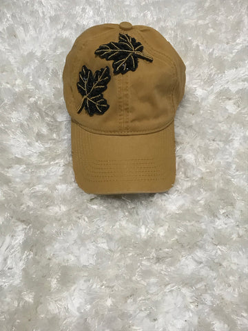 Autumn - Double Black Leaf Mustard Cap