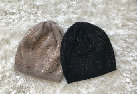 Black Sequin Acrylic Hat