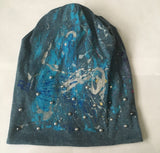 Splatter Beanie with Pearls