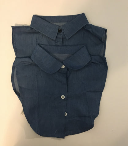 Denim False Collar Shirt
