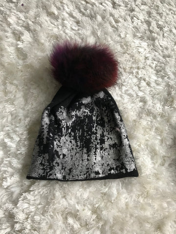 Metallic Painted Warm Hat