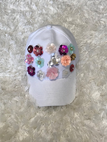 Rose - White Cotton Hat