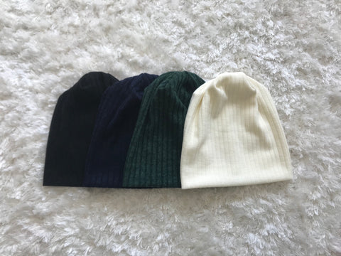 Thick Sweater Ribbed Beanie