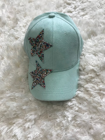 Mint - Colorful Rhinestone Star Cap