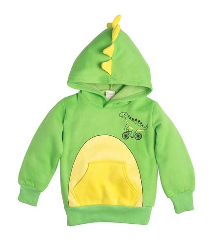 Dino Green with Yellow Spikes 3D Hoodie- DoodlePants