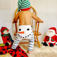 Snowman Stripe Leggings- DoodlePants