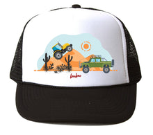 Bubu - Trucks White / Black Trucker Hat