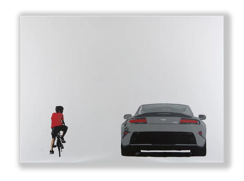 Aston Martin art canvas by Street artist Plastic Jesus