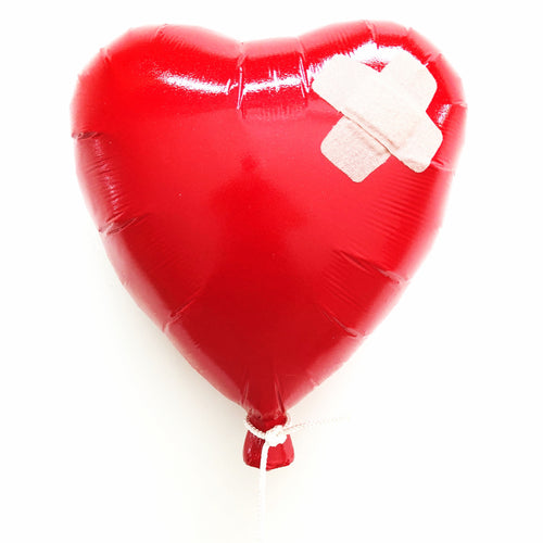 Band Aid Balloon - Red, High Gloss -  Sculpture