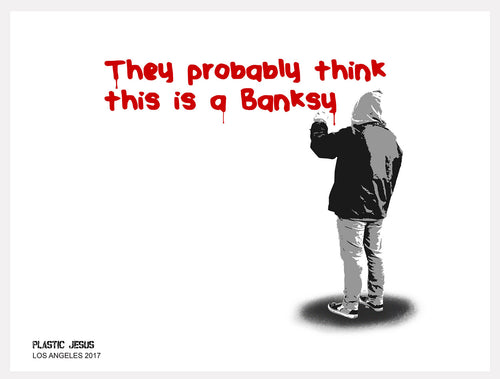 Not Banksy art print by Plastic Jesus.