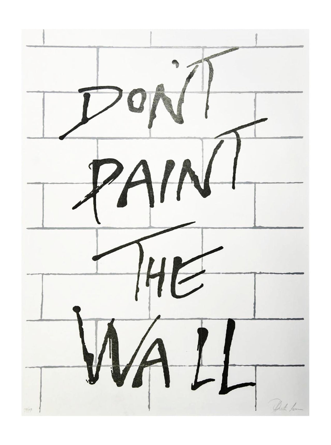 Art Canvas Pink Floyd inspired - The wall