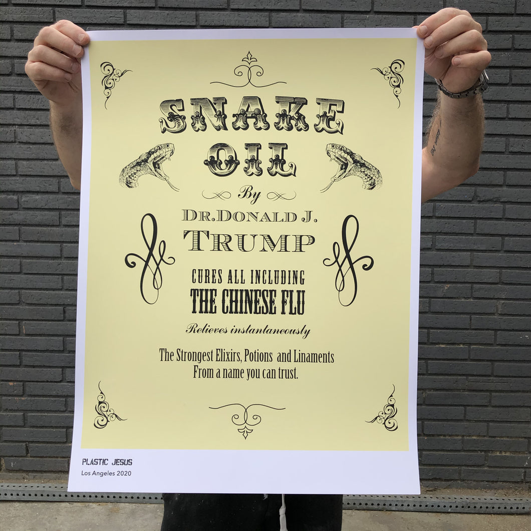 Snake Oil - Limited Edition Silk Screen Print