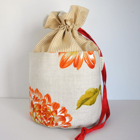 Bucket Bag - Round Bottom Drawstring Bag