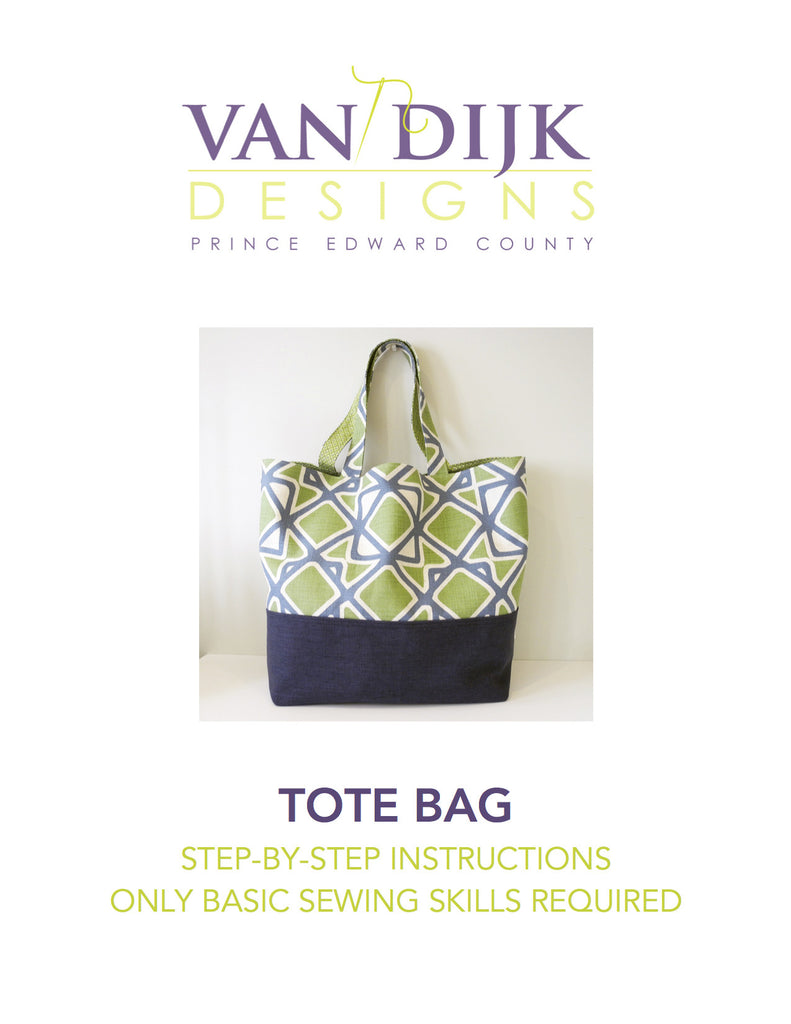 Front cover of digital download of tote bag instructions 6d57e49e1a91d
