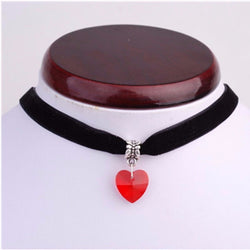 Free Crystal Heart Choker Necklace