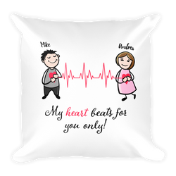 Heart Beats For You Pillow