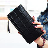 New Fashion Double Zipper Embossed Wallet