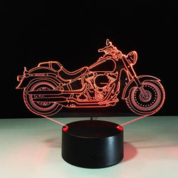 3D Motorcycle Color Changable Lamp