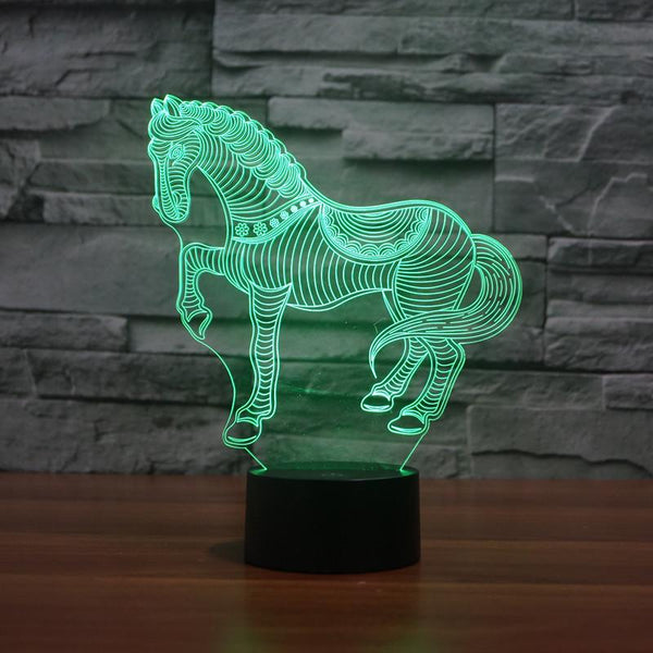 3D Horse Color Changable Lamp