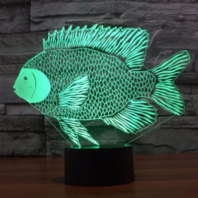 3D Fish Color Changable Lamp