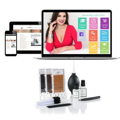 Online Eyebrow Extensions Training + Kit (optional)