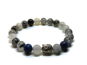 Men's Tourmalinated Quartz Bracelet