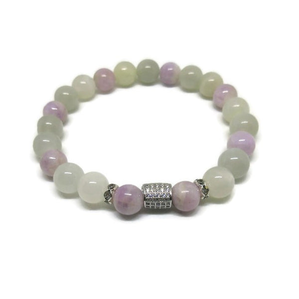 Moonstone and Kunzite Bracelet