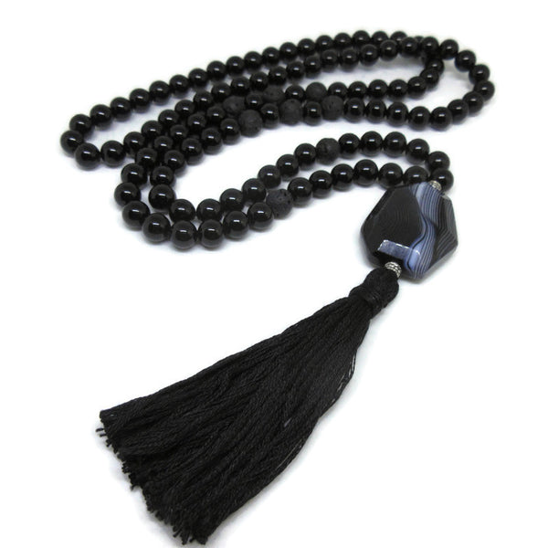 Onyx and Lava Grounding Mala