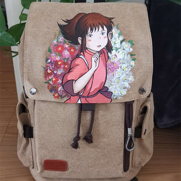 Cartoon character hand-painted backpack YV43217