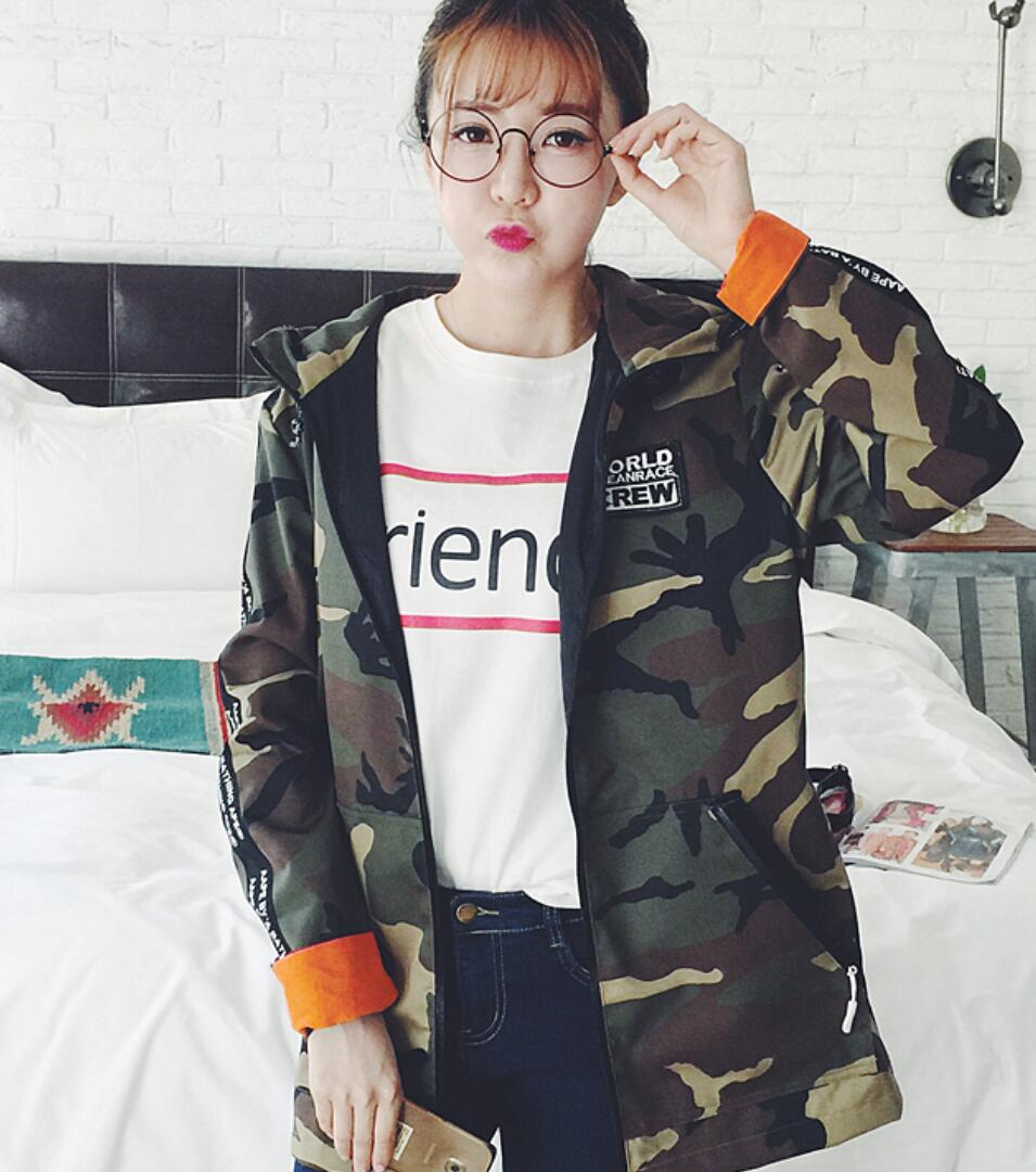 harajuku autumn camouflage jacket coat YV2321