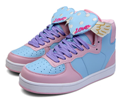Harajuku flying hearts sneakers shoes yv5087