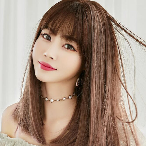 Fashion fluffy natural gradient wig yv43318