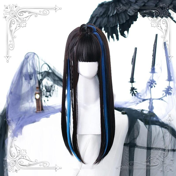 Fashion mixed color straight wig yv43299
