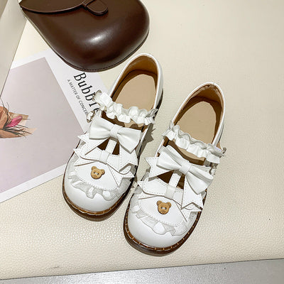 lolita style bowknot cute leather shoes yv43137