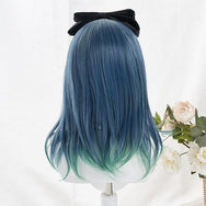 Harajuku Fashion Blue Green Gradient Wig yv43321