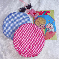 Harajuku cartoon embroidered plaid beret yv43295