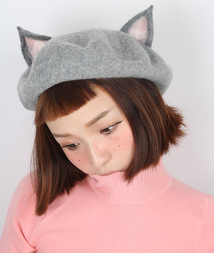 Cute handmade woolen rabbit girl ear cap YV16034