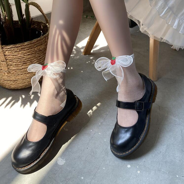 Japanese style lolita strawberry socks yv43091