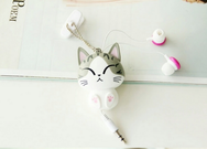 Creative Cartoon Cheese Cat Doll in-ear Headphones YV159