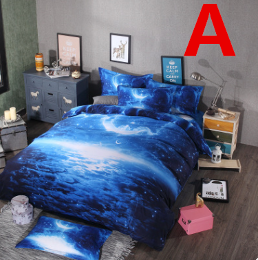 Harajuku fashion galaxy bed sheet set 4 pieces YV16034