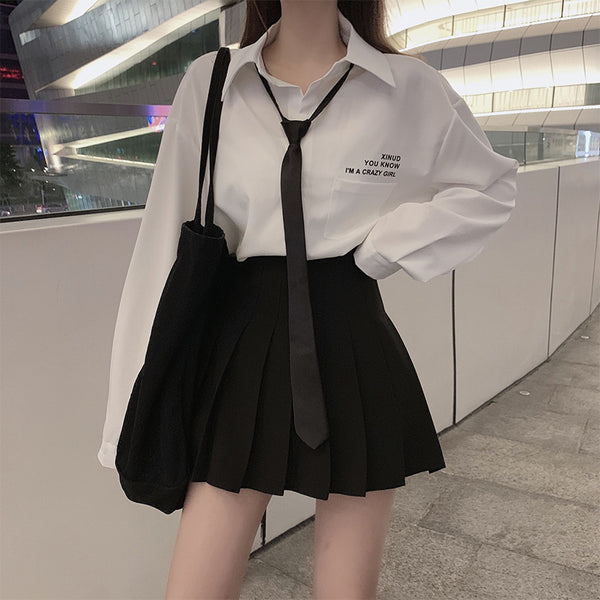 Japanese style fashion shirt skirt set yv43126