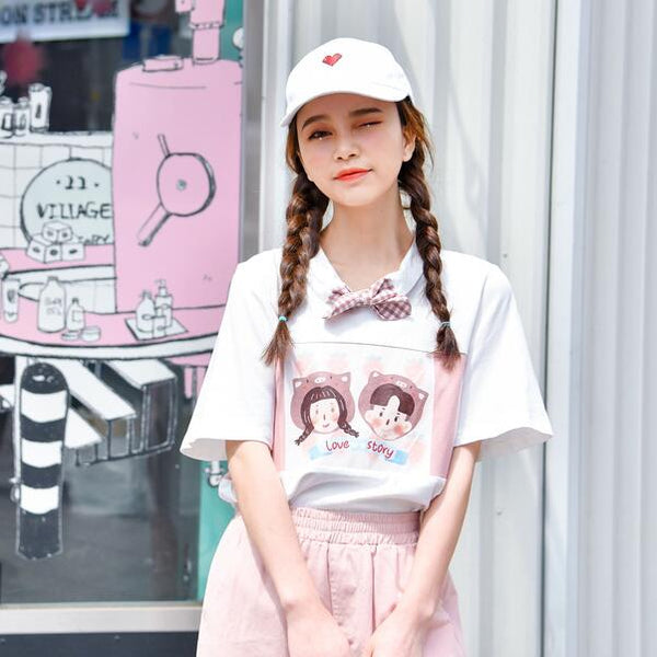 Harajuku cute casual T-shirt YV43043