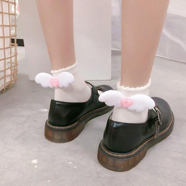 Lolita angel wings cute socks yv43241
