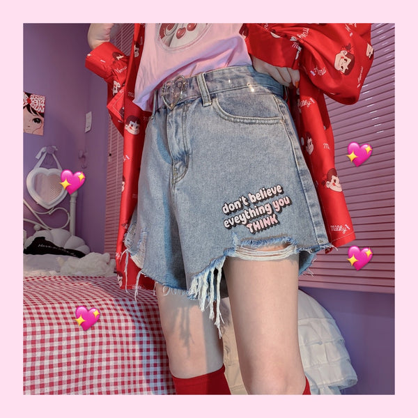 Harajuku summer denim short pants YV43032