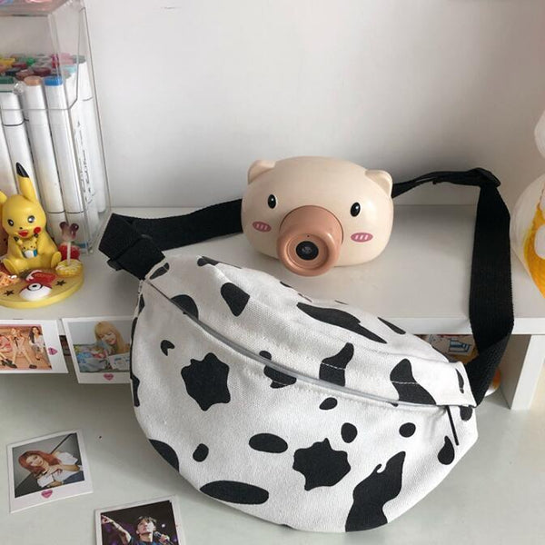 Harajuku style cow canvas bag yv43164