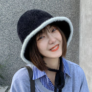 Cute plush knitted fisherman hat yv43531
